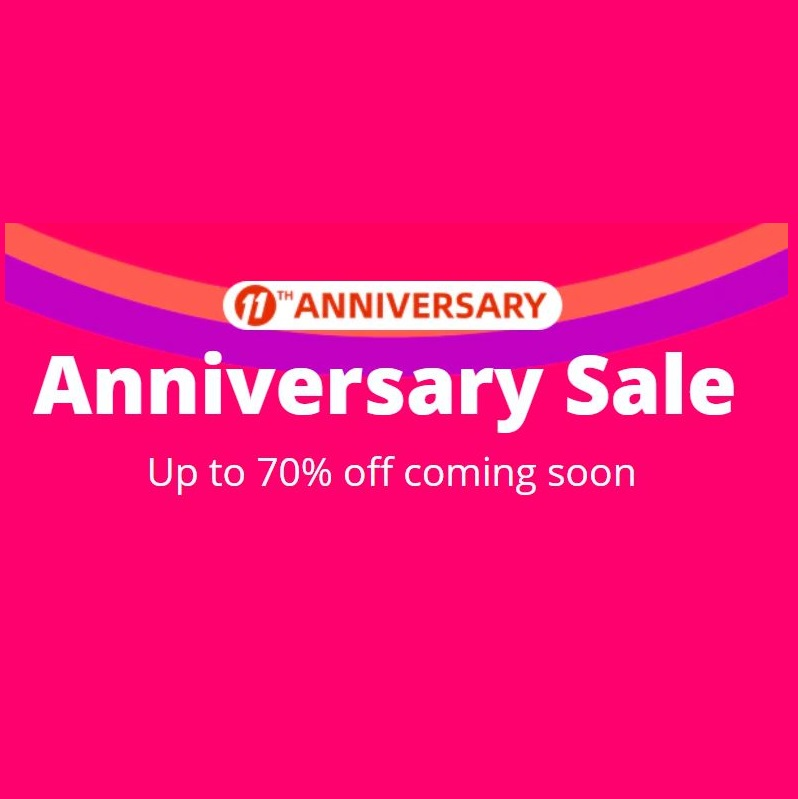 Aliexpress 11th Anniversary Sale Coupon Code Up To 70% OFF